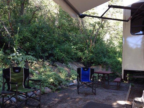 Lightner Creek Campground: Site#68   Back of park next to bathrooms