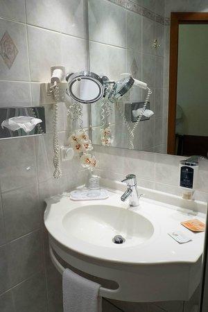 Hotel Hollaender Hof : Fully equipped bathroom