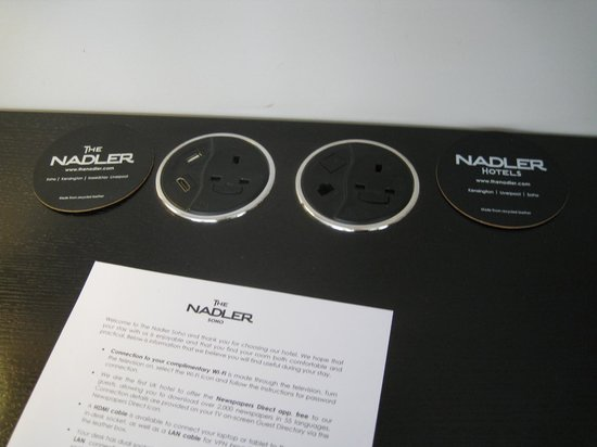 The Nadler Soho: Multi function sockets