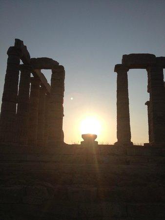 Fantasy Travel: Temple of Poseidon at Sunset