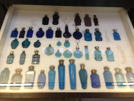 Harris Museum and Art Gallery: Coloured perfume bottles