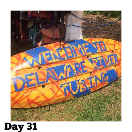 Delaware River Tubing: I made my experience here part of my #100happydays !!!