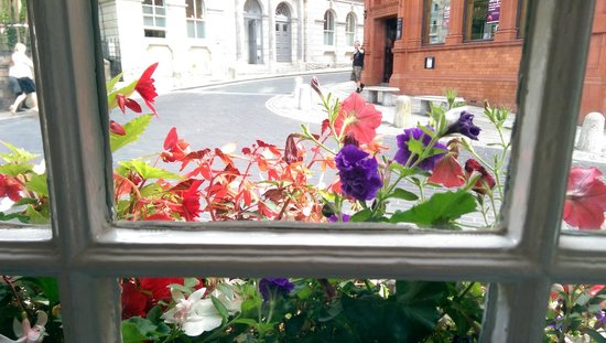 The White Hart: View from breakfast room