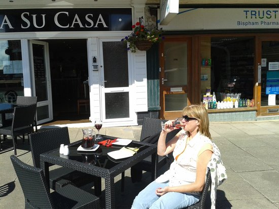 Bispham, UK: Lazing on a sunny afternoon.