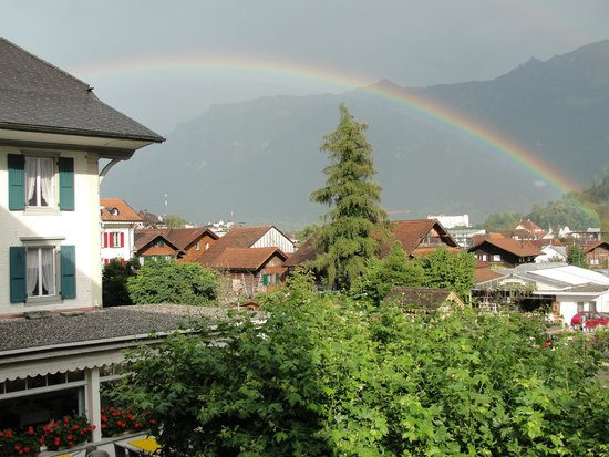 Hotel Beausite: Rainbow seen from our room