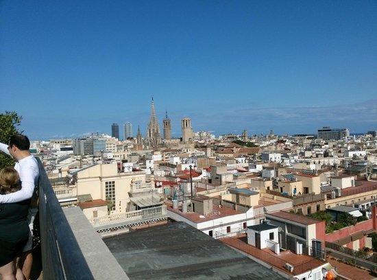 Citadines Ramblas Barcelona: Vistas desde el solarium de la planta 9