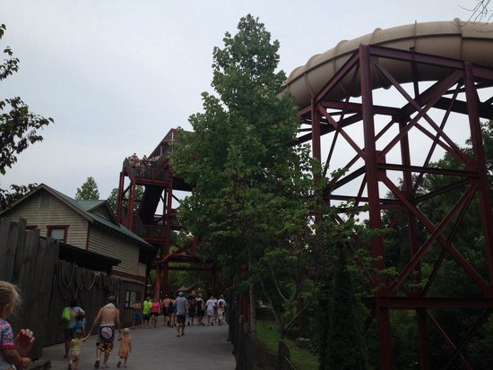 """Dollywood's Splash Country Water Adventure Park: A child over 36"""" can ride this!! Fun family times!!"""