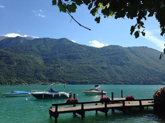Hotel Port Et Lac: vu de la table