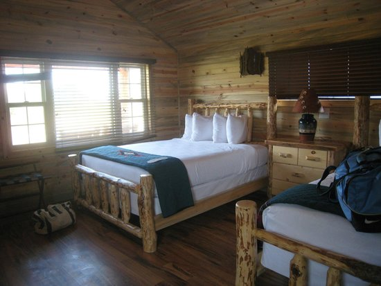 Interior of Cabin@ Cedar Pass Lodge