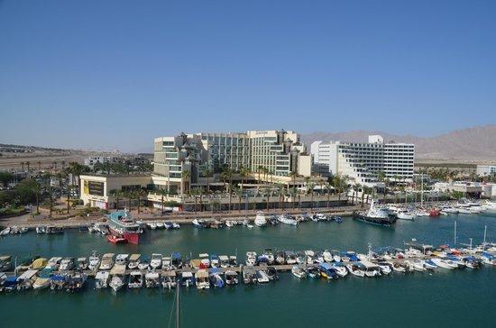 Dan Panorama Eilat : View of marina from balcony in room