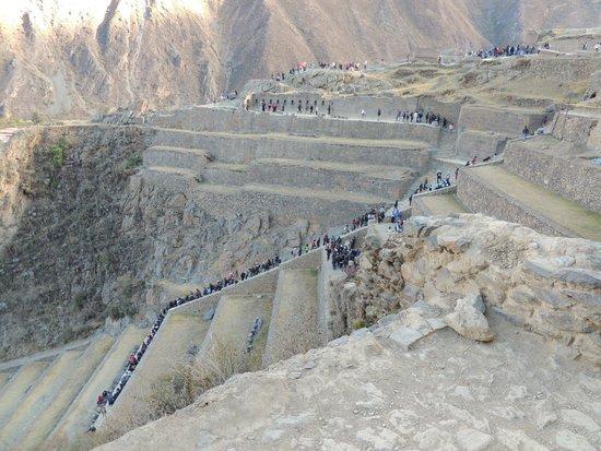 Tempel von Ollantaytambo: vista desde la ciudadela 2