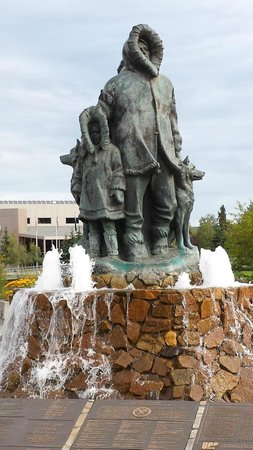 Morris Thompson Cultural & Visitors Center: Golden Heart Plaza and Park - Fairbanks