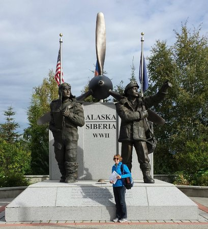 Morris Thompson Cultural & Visitors Center: WWI Memorial Outside Center - Must see