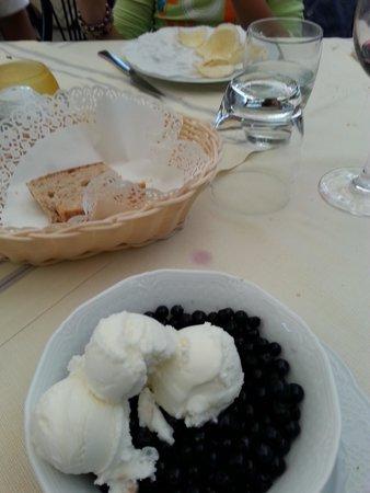 Il Pozzo : mirtilli e gelato