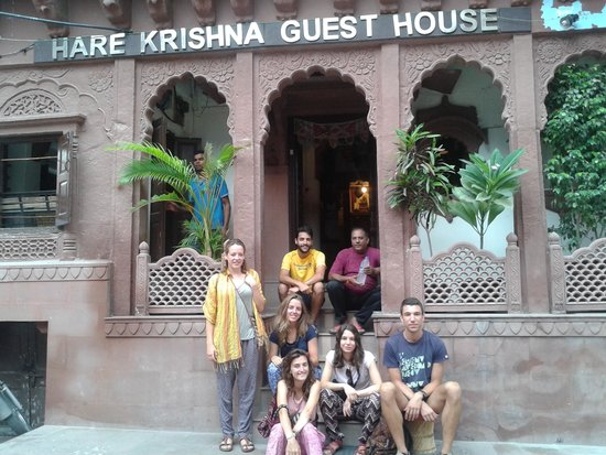 Hare Krishna Guest House : front of the guest house