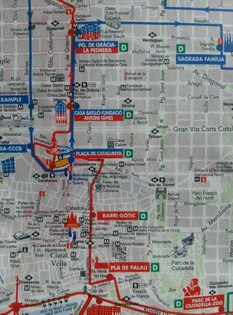 Citadines Ramblas Barcelona: Mapa de los alrededores del hotel