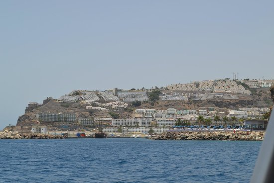 Servatur Puerto Azul: Vue de la mer sur l'hôtel