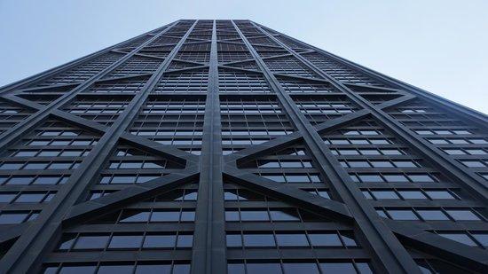 John Hancock Center/Aussichtsetage: Long way up!