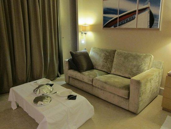 Daios Cove Luxury Resort & Villas : La nostra misera cena all'arrivo