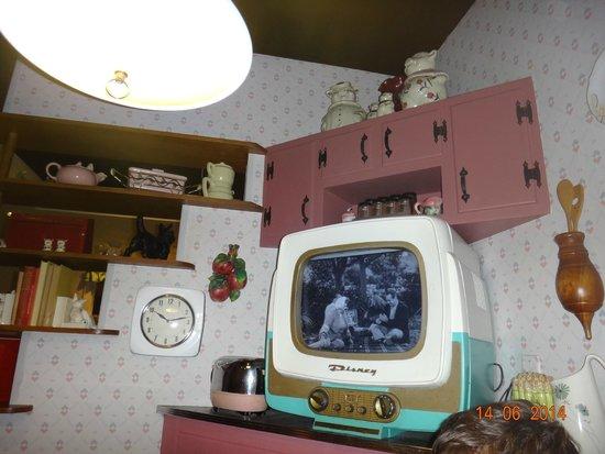 50s Prime Time Cafe: ambiente que ficamos, decoração da sala estilo anos 50