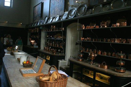 Holkham Hall: the kitchen