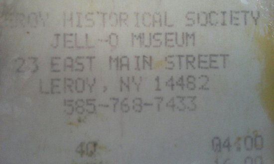 Jell-O Gallery Museum: Historical proof of our pilgrimage!