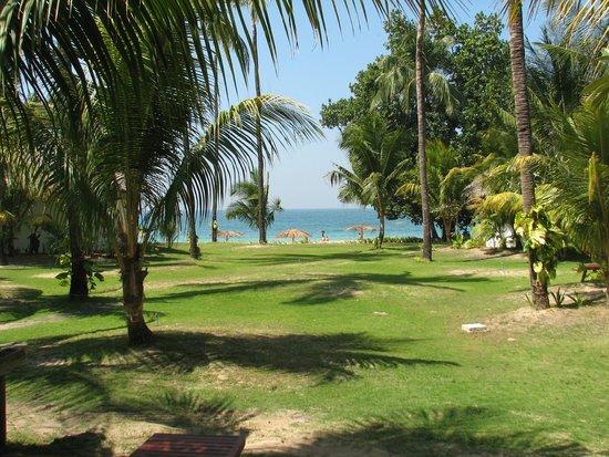 Ngapali Bay Villas & Spa : вид от номера в сторону моря