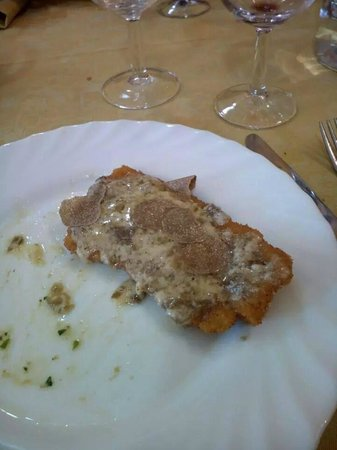 Trattoria Ciccioni: cotoletta al tartufo