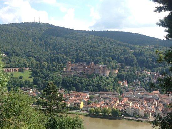 Philosophenweg: View of Heidelberg from Philosopher's Way