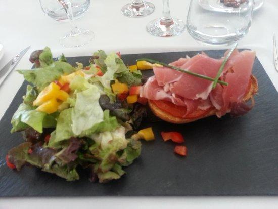 Best Western Hotel BeauSejour Lourdes : Une entrée: menu jour