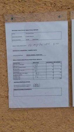 Club Santa Ponsa: controllo acqua piscina fatto il 12 agosto e poi il 20 agosto