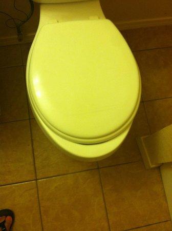Dine Inn Motel: Wrong sized/shape toilet seat