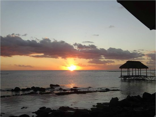 The Oberoi, Mauritius: The sunset from the hotel