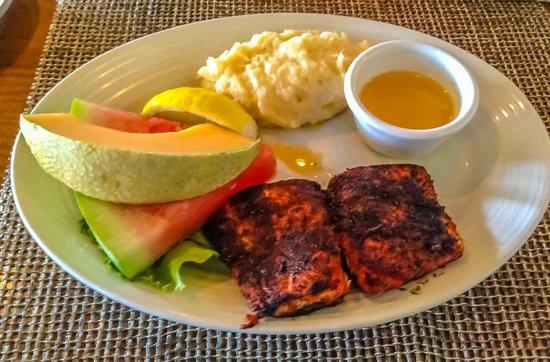 Cajun Blackened Seabass - Picture of Harbor Grill Restaurant