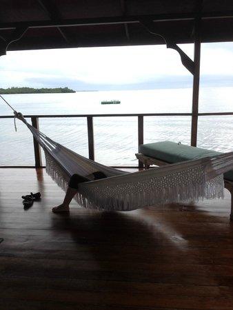 Laguna Azul Eco Lodge: Afuera de mi habitación