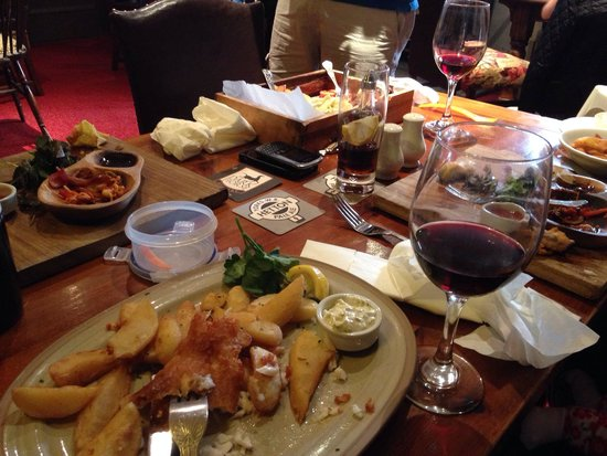 The Tempest Arms Restaurant: Half eaten portions