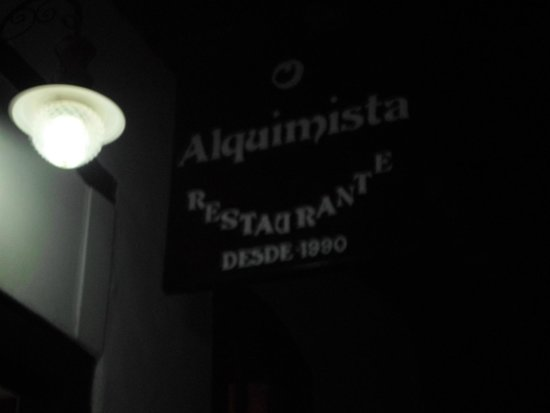 O Alquimista Restaurantes : Placa do restaurante