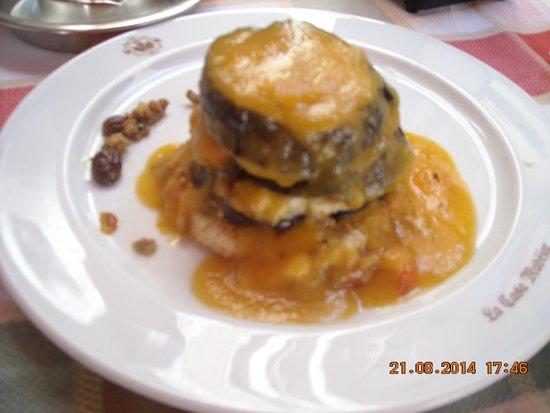El Fogon Sefardi Restaurante: Tapa 2007, Berenjena con cordero al curry