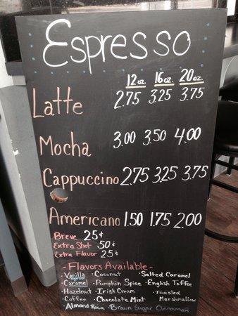 Arlington, OR: Espresso Menu