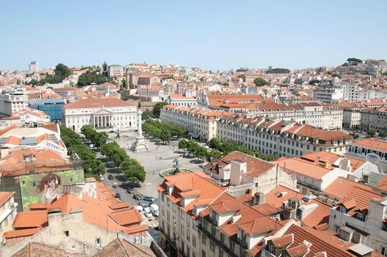 Santa Justa Lift : The Praca Rossio from the view platform