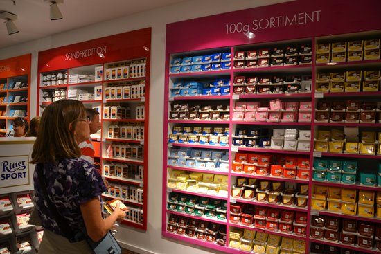 Ritter Sport Bunte Schokowelt: Wall of chocolate