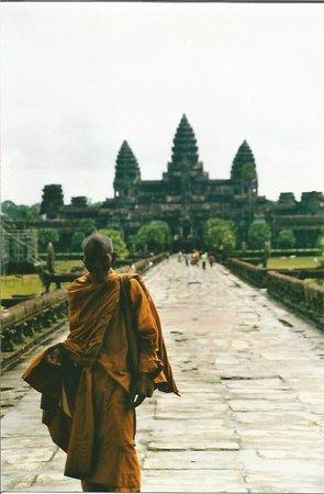 Preah Khan: monjes en el recinto de Angkor