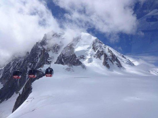Aiguille du Midi : Cable car to Pointe Helbronner