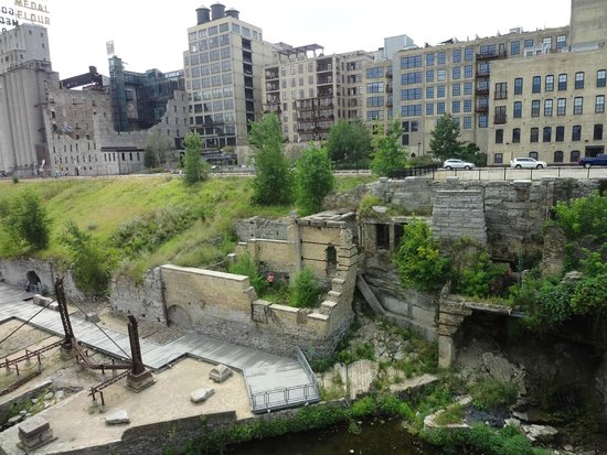 Taste Twin Cities Food Tours: Mill ruins - view from the Stone Arch Bridge