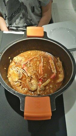Mariscco : The signature dish: Lobster Paella.