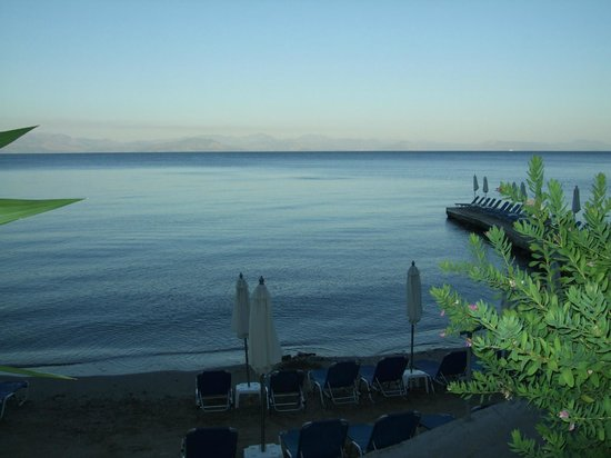 Aeolos Beach Resort : View from Beach Restaurant at A La Carte Meal