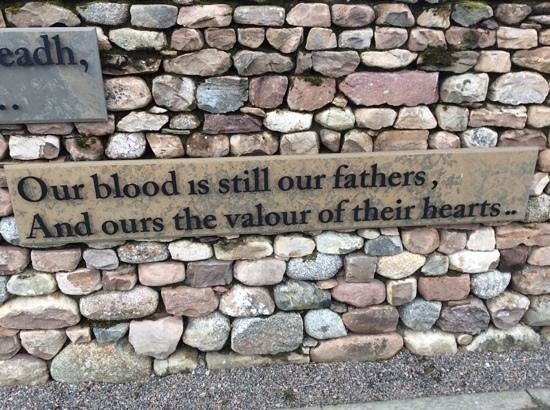 Culloden Battlefield: Memorial Saying