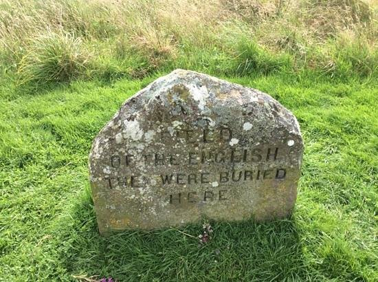 Culloden Battlefield: English grave marker