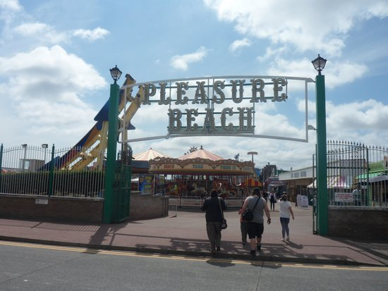 The pleasure beach entrance