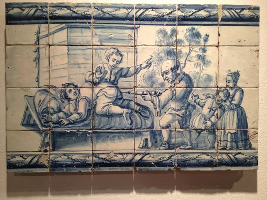 National Tile Museum: Painel Satírico , Lisboa sec XVIII